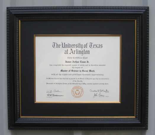 Specialty Framing | Degrees and Certificate Framing